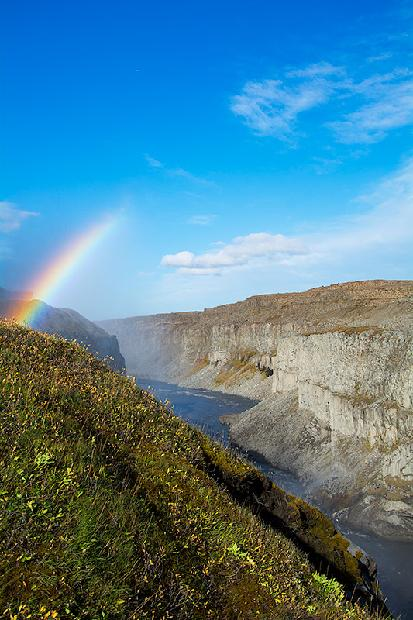 Rainbow over Dettifoss