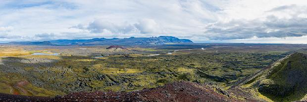 View from the top of a volcano